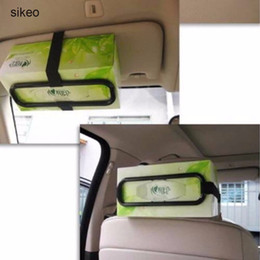 travelling car seat 2019 - sikeo Car Sun Visor Tissue Paper Box Holder Auto Seat Back Paper Napkin Accessories Clip Bracket Portable Travel Supplie