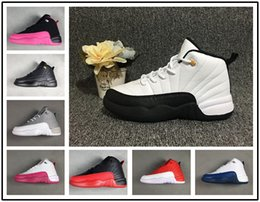 $enCountryForm.capitalKeyWord Canada - Hot Sale Baby Kids 12 12s Basketball shoes College navy Dark Grey flu blue gym red trainers youth boy girl Sports Sneakers 11C-3Y