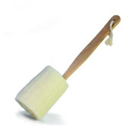 $enCountryForm.capitalKeyWord UK - 10pcs Long holder natural loofah shower bath brushes loofah shower brush Sanitary Ware Home Bathing Suppliers