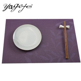 modern table mats NZ - 1PCS PVC Placemat Floral Paerns Kitchen Dinning Tableware Pad Heat Resistant Mat Table Placemats for Home Kitchen Hotel