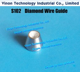 dying machines Canada - d=0.105mm Diamond Dies Guide S102 3080236 edm Upper Dies B for AWT 0.105mm 0200134 for AQ,A,EPOC series wire-cut edm machine wire guide S102