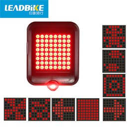Discount usb 64 - LEADBIKE Seatpost Taillight 64 LED Laser Smart Induction Steering Brake Safety Warning Bike Light USB Charging Turn Sign