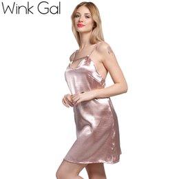Satin Lace Up Slip Dress Silk Sexy Nightgowns Sleepwear Summer Nightwear  Sleeping Dresses Women 3257 78b5e8ee8