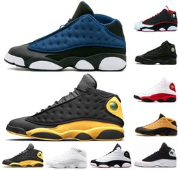0f1f9ba0c215 Hot sale Melo Class of 2003 shoes 13 XIII 13s Men Basketball Shoes Bred  Black Brown White DMP hologram flints Grey Sports sneakers US 8-13