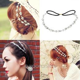 Bridal rhinestone head chain online shopping - Hot Lady Elegant Elastic Rhinestone Diamond Headbands Wedding Bridal Flower Headband Hairbands Headwear Head Band Head Chain
