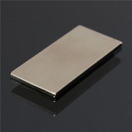 Ndfeb Block Magnets NZ - 5pcs N50 NdFeB 40x20x2mm Super Strong Block Cuboid Magnet Rare Earth Neodymium Magnet