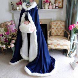 Pink Faux Fur Leather Jacket NZ - Plus size Winter 2018 Bridal Shawls Jackets Cape Faux Fur Christmas Cloaks Hooded Perfect Wedding Wraps Abaya Wedding Dresses