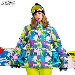 High Experience Ski Jacket Women Snowboading Jackets Ladies 2018 Womens  Snow Clothes Waterproof Windbreaker Winter Jackets Warm b5f3c12dc