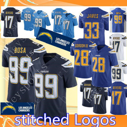 076bac3a80c Los Angeles Chargers 99 Joey Bosa 17 Philip Rivers 28 Melvin Gordon Jersey  Mens 33 Derwin James Football Jerseys Color Rush Limited Game