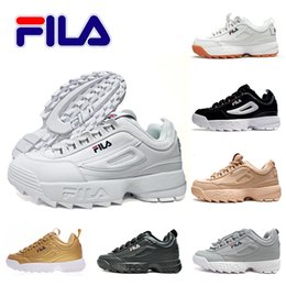 Discount sports hiking - 2018 OFF Fila DisruptorII Casual shoes For Men Women Running White Cool Luxury Outdoor Sports Sneakers Eur 36-44