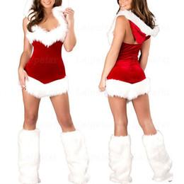 Red White Dresses Australia - Laipelar 2018 Sexy Womens Mrs Santa Claus Christmas Costume Mini Dress White Fur Red Dress Women Sexy Nightclub Cosplay Clothes C18111601
