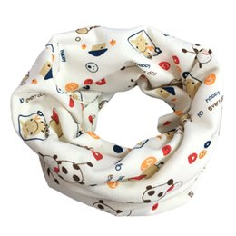 Wholesale Cow autumn and winter baby scarf Autumn Winter Boys Girls Baby Scarf Cotton O Ring Neck Scarves