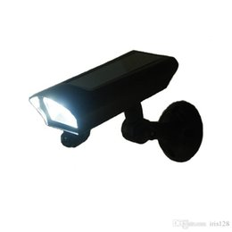 Security camera light online shopping - Solar powered Motion Sensor LED Light Led Wall Lamp Solar Led Light Garden Yard Energy Saving security Lamp black camera shape