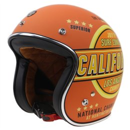 $enCountryForm.capitalKeyWord NZ - New Arrival Retro Style Old Bike motorcycle helmet Open face helmet with goggle straps and visor DOT approved bike