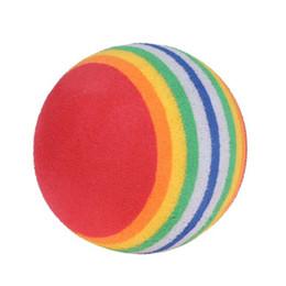 Sponge Balls UK - FishSunday5Pcs Pack Rainbow Stripe Foam Sponge Golf Balls Swing Practice Training AidsM1-05 July06