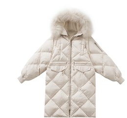China Autumn winter 2018 warm sales women's down jacket, Japan and South Korea soft long down jacket with fur collar suppliers