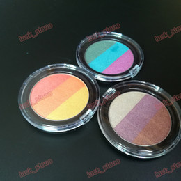 cheap wholesale mixed makeup UK - no logo 3 color mix eyeshadow palette cheap wet powder eyes mineral pigment Professional Diamond shimmer 3 Colorful makeup