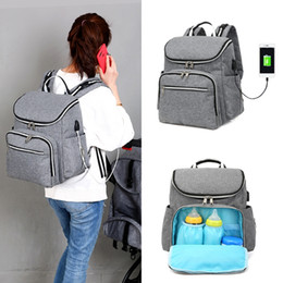$enCountryForm.capitalKeyWord Canada - Multi-Functional Mummy Diaper Bags Baby Nappy Large Travel Backpack USB Charging