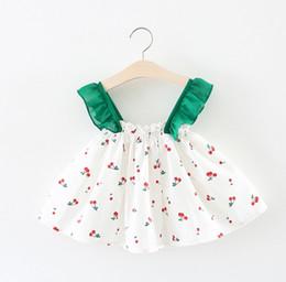 3b62e8c81d95 Cherry Printed Newborn Baby Dress for Girls Sleeveless Summer Baby Girl  Dresses Cotton A Line Infant Baby Girl ClothesCherry Printed Newborn