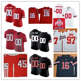 87cfe525e Mens Custom Ohio State Buckeyes College Football Jerseys Stitched Denzel  Ward Sam Hubbard Tate Martell Dante Booker Jahsen Wint Jersey S-3XL