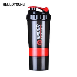 Powder Drinks UK - HELLOYOUNG Creative Protein Powder Shake Bottle Mixing Bottle Sports Fitness Kettle Protein Shaker Sports Water Bottle