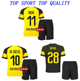 ced770ac7ba 18 19 Dortmund Soccer Jersey Shorts 2018 19 REUS GOTZE KAGAWA PULISIC  Football Kits Mens Thai Quality Outdoor Sports Wears Football Suits