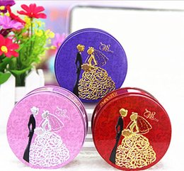 $enCountryForm.capitalKeyWord NZ - 1000pcs Round Shape Metal Tin Material Bride Groom Candy Box Wedding Favor Gift Favours Wedding Party Free Shipping