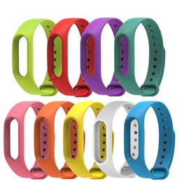 Wholesale Xiaomi Mi Band Bracelet Strap Miband Colorful Strap Wristband Replacement Smart Band Accessories For Mi Band Silicone
