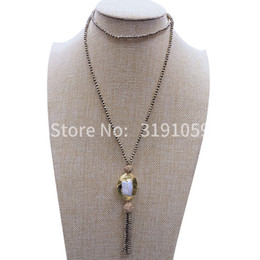 $enCountryForm.capitalKeyWord UK - New vintage black cholestone pearl necklace collarbone chain value above European and American foreign trade jewelry