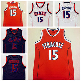 0389bd7f4b8 ... canada carmelo anthony syracuse jersey syracuse 15 orange white black college  basketball jerseys 4f03c d705f