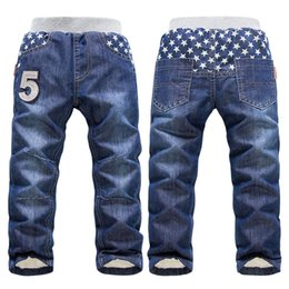 thick boys pant Australia - High quality Brand KK-RABBIT Winter Thick Boys Pants Kids Baby Children Jeans
