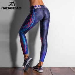 609e964fbfb10d 2019 NADANBAO Fashion Galaxy Printed Sporting Leggings Women Compression  Trouser High Elastic Pantalones Mujer Pants cheap wholesale