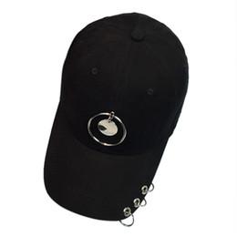 369ff7360bb 2018 Cool stylish Fashion Women Men Fashion Couple Cotton Metal Ring Baseball  Cap Unisex Snapback Hip Hop Hat Cap  0604