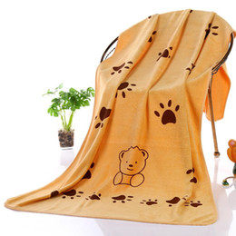browning baby bedding 2019 - 2018 Cute Dog Bath Towel Powerful Absorbent Soft Drying Bath Towel Cat Pet Baby Bathrobes Cleaning Necessary 140*70CM ch