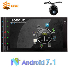 mirror speakers NZ - Double Din EinCar Android 7.1 Car Stereo Octa-core 7''Touch Screen Car Multimedia Radio Receiver In Dash Headunit Bluetooth WiFi OBD2 Mirror