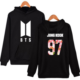 Wholesale bts suga resale online - 2018 BTS Clothes RM JIN SUGA J HOPE clothing JIMIN V JUNG KOOK new k pop sweatshirts bts kpop women hoodie