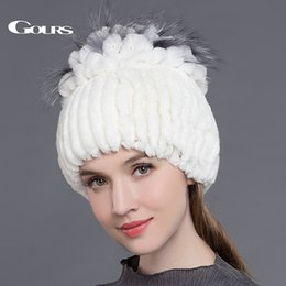 9f6afd8f63a Discount ladies russian fur hats - Gours Women s Fur Hats Natural Rex  Rabbit Fox Fur Caps