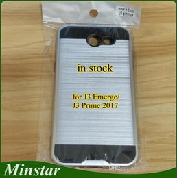 Wholesale boost phones online shopping - For Samsung Galaxy J3 Emerge Boost Mobile J3 Prime for iPhone X XS Metro USA Brushed Metal Polish PC TPU Hybrid Cheap Phone Case Stock