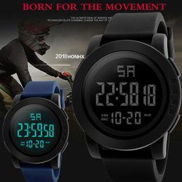 $enCountryForm.capitalKeyWord NZ - Watches Man Clock Digital Watches Black Mens Men Analog Digital Army Sport LED Waterproof Wrist Watch erkek kol saati