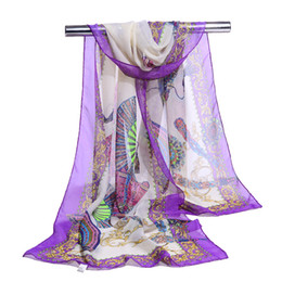 Chinese wrap sCarf online shopping - 2018 New chiffon scarf Retro print women s muslim lady Chinese style spring and autumn scarf patterns cape shawl wrap