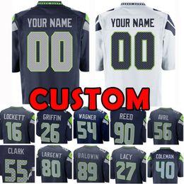 d44d70809 Football jersey 89 online shopping - Custom Seattle Jersey Seahawk Seahawks  Shaquil Doug Baldwin Tyler Lockett
