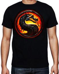 $enCountryForm.capitalKeyWord Australia - Mortal Kombat Dragon Logo Classic Arcade Game Martial Arts Fighting T Shirt T-shirt Men Man's Unique Custom Short Sleeve Valentine's XXXL Gr