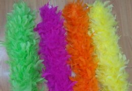 Red Boa Feathers Australia - Wholesale 10pcs 2M 38g 48g 60g 80g Feather scarves flower Bouquets length Marabou Feather boa craft wedding party christmas