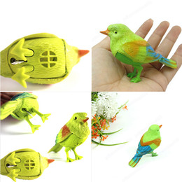 Electronic Voice NZ - 2017 Electronic pets Simulation sounding bird Voice Control Music Bird Cute Sing toy Song Morning Cage decorations