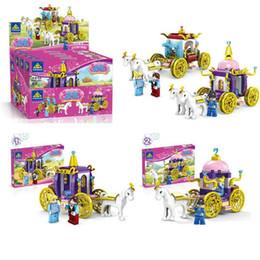 $enCountryForm.capitalKeyWord Australia - Block Puzzle toys pumpkin carriage Girl splicing bricks blocks toys,Color box packaging to create a dream world for girls
