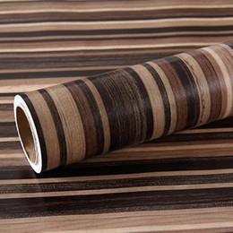 Paper Table Roll Australia - 5 meters PVC Self Adhesive Wallpaper 3D Wood Texture Wall Stickers Table Furniture Refurbished WallPapel Home Cabinet Decor