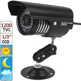 "Cctv Camera 3.6mm NZ - 1200 TVL 6mm Lens 36 IR LEDs IP66 Waterproof Night Vision CCTV Bullet Camera with Sony 1 3"" CCD Sensor CCT_638"