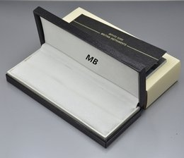 Top Valentines Gifts Canada - Luxury gift box Top Grade Black Leather Box with Warranty Manual for Christmas Birthday Valentine gifts packaging MTB pen boxs High quality