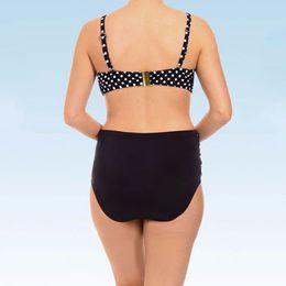 aa6c0c25152 Plus Size Summer Style Sexy High Waist Swimsuit Dot Bikini Swimwear Thong Vintage  Retro Bathing Suit Large Cup Biquini 5XL