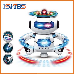 wholesale walking dog toys Canada - New Smart Space Dance Robot Dog Electronic Walking Toys With Music Light Christmas New Year Gift For Kids Astronaut Toy to Child